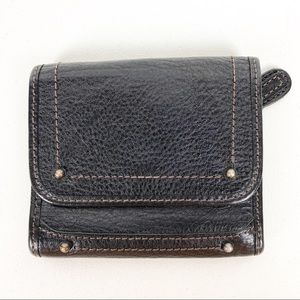 Banana Republic black leather wallet